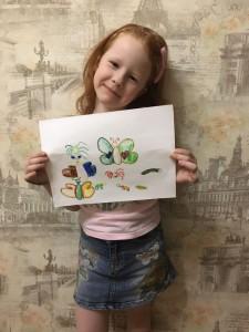 Головкина Софья нарисовала рисунок по теме Насекомые