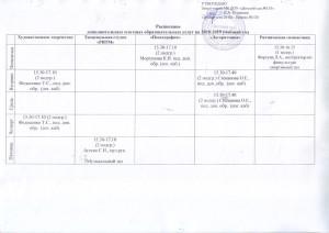 Расписание дополнительных платных образовательных услуг на 2018-2019 учебный год